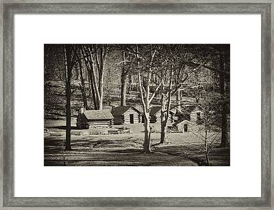 Cabins At Valley Forge Framed Print by Bill Cannon
