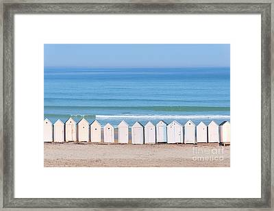 Cabins Framed Print by Delphimages Photo Creations