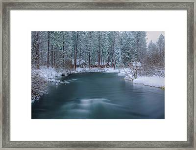 Framed Print featuring the photograph Cabins On The Metolius by Cat Connor