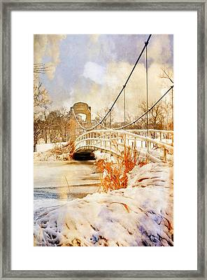 Cable Bridge Framed Print by Marty Koch