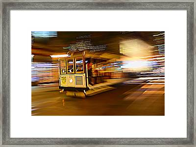 Cable Car At Light Speed Framed Print