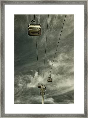 Cable Car Framed Print by Martin Newman