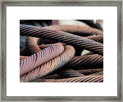 Cable Chaos Framed Print