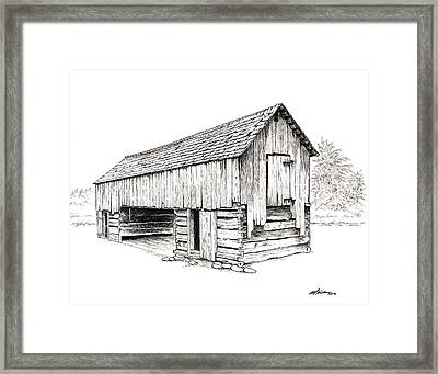 Cable Mill Barn Framed Print by Dave Olson