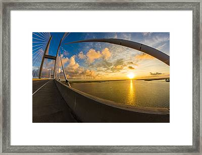 Cables Bend At Sunset Framed Print by Chris Bordeleau