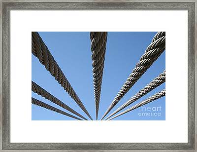 Framed Print featuring the photograph Cables To Heaven by Andrew Serff