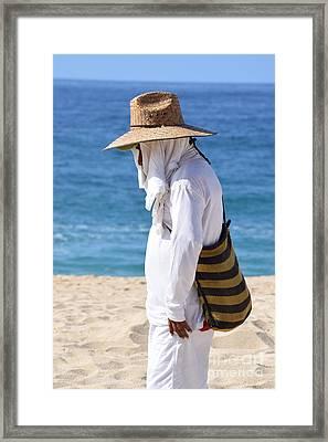 Cabo Beach Hawker. Framed Print
