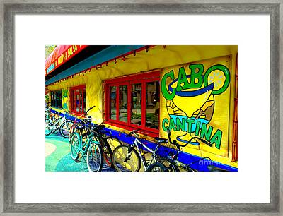 Cabo Cantina - Balboa Framed Print by Jim Carrell