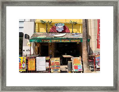 Cabo Cantina Mexican Restaurant In Santa Monica California Dsc3637 Framed Print by Wingsdomain Art and Photography