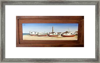 Framed Print featuring the painting Cabo Polonio 2 by Natalia Tejera