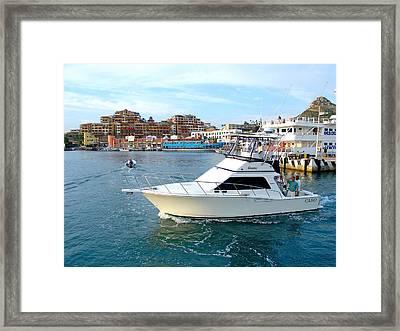 Cabo San Lucas Marina Framed Print by Karon Melillo DeVega