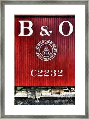Caboose # C2232 Framed Print by Mel Steinhauer