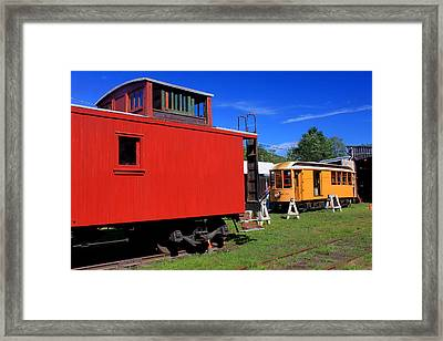 Caboose At Shelburne Trolley Museum Framed Print