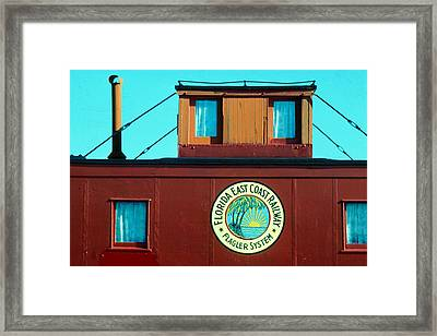 Caboose Framed Print by Carl Purcell