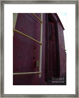 Caboose Door Framed Print by The Stone Age