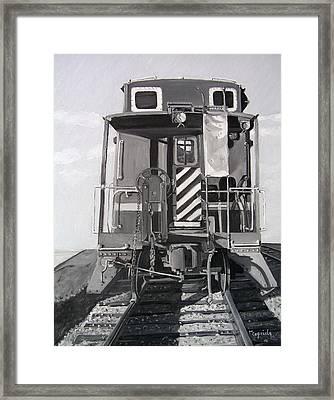 Caboose Framed Print