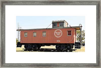Framed Print featuring the photograph Caboose by Ray Shrewsberry