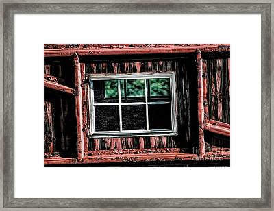 Framed Print featuring the photograph Caboose Window by Brad Allen Fine Art