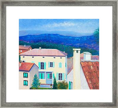 Cabries - Aix-en-provence France Framed Print by Jan Matson