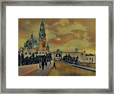 Cabrillo Bridge And Museum Of Man Framed Print by Russ Harris