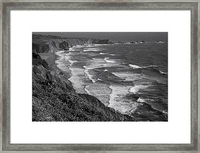 Cabrillo Coast Framed Print by Arthurpete Ellison