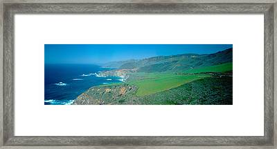 Cabrillo Highway On The California Framed Print by Panoramic Images