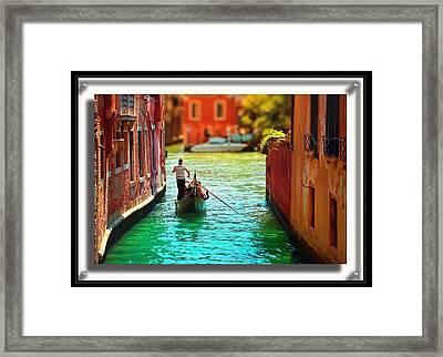 Cack Alley Gondola Ride Framed Print