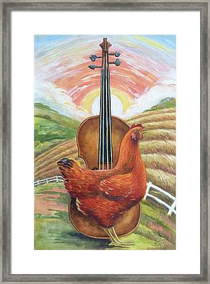 Cacklin Hen Framed Print by Paula Blasius McHugh