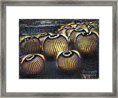 Cacto Lanterns Framed Print