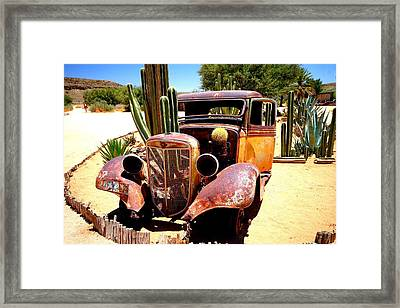 Framed Print featuring the photograph Cactus Car by Riana Van Staden