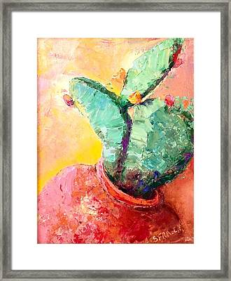 Cactus Cool Framed Print
