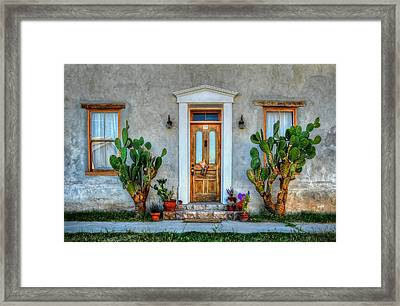 Framed Print featuring the photograph Cactus Guards by Ken Smith