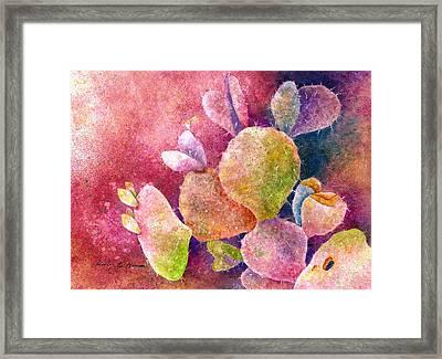 Cactus Heart Framed Print by Hailey E Herrera