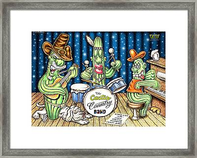 Cactus Jam Framed Print by Cristophers Dream Artistry