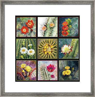 Framed Print featuring the painting Cactus Series by Marilyn Smith