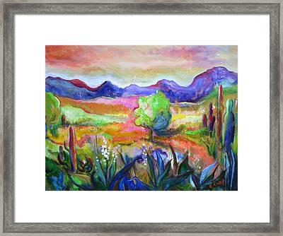 Cactus Spring Framed Print by Elaine Cory