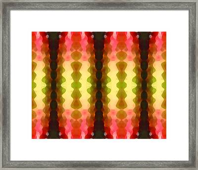 Cactus Vibrations 1 Framed Print by Amy Vangsgard
