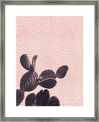 Cactus With Polka Dots Framed Print