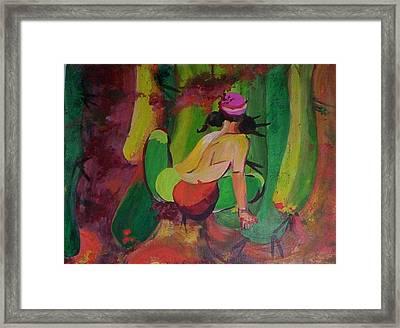 Cactus Woman Framed Print by Georgia Annwell