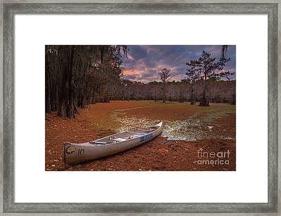 Caddo Canoe Framed Print