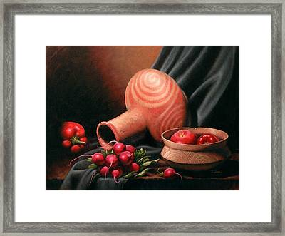 Caddo Jar - Red Study Framed Print