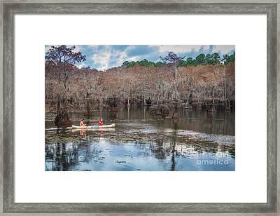 Caddo Lake Fishermen Framed Print