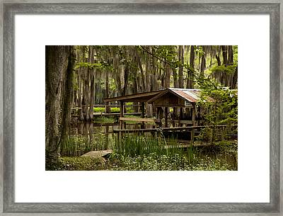 Caddo Lake Reflection Framed Print
