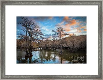 Caddo Lake Sunrise Framed Print