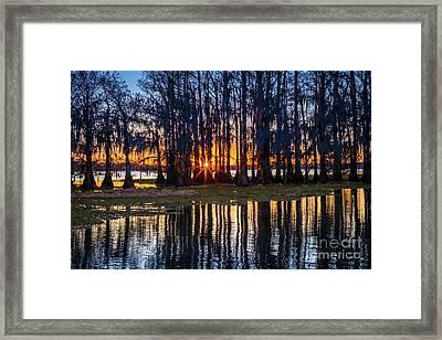 Caddo Sunstar Framed Print
