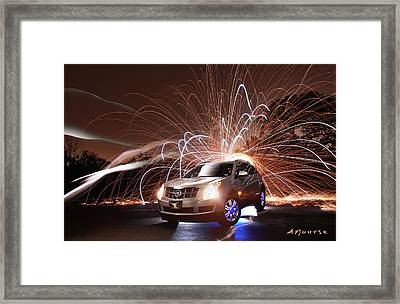 Caddy Craziness Framed Print