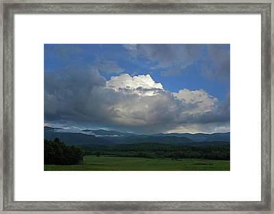 Cades Cloud Framed Print by Jerry LoFaro
