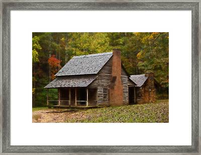 Cades Cove Cabin Framed Print