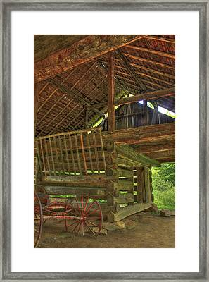 Cades Cove Counter-lever Barn Framed Print by Reid Callaway