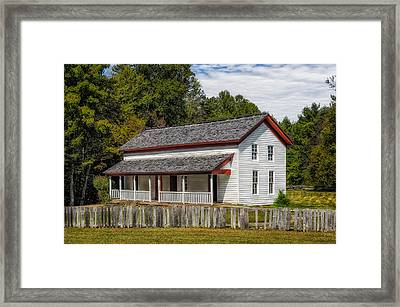 Cades Cove Gregg-cable House - 1 Framed Print by Frank J Benz